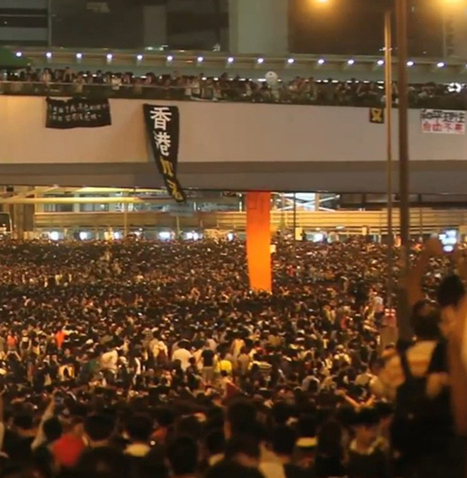 Tens of thousands sleep out: Massive protest lights up Hong Kong skyline [PHOTOS] | Human Rights and the Will to be free | Scoop.it