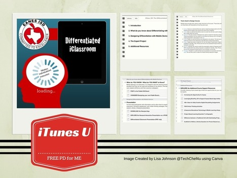 Differentiating the iClassroom - iTunes U course | iGeneration - 21st Century Education | Scoop.it