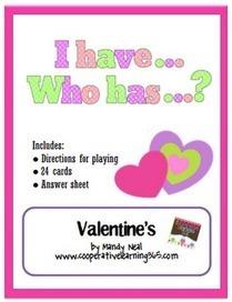 I Have...Who Has.. Valentine's Activity | Seasonal Freebies for Teachers | Scoop.it