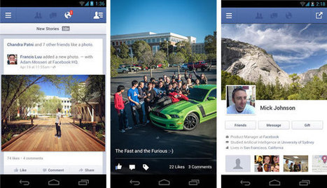 Facebook sur Android devient natif... et rapide ! | Anytime, Anywhere, Any device | Scoop.it