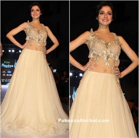 Divya Khosla in Archana Kochhar's Designer Lehenga Choli | Indian Fashion Updates | Scoop.it