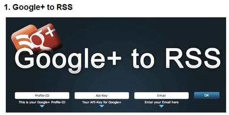 How To Create An RSS Feed For Any Google+ User's Stream | 1-MegaAulas - Ferramentas Educativas WEB 2.0 | Scoop.it