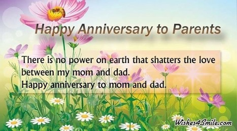 Happy Anniversary Wishes for Parents   Wishes4Smile   Entertainment   Scoop.it