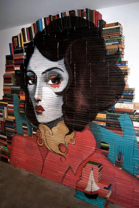 Eski kitaplardan duvar resmi - Mike Stilkey | Kitap: Kitaba dair her şey. Son çıkanlar, çok satanlar, romanlar, klasikler... | Scoop.it