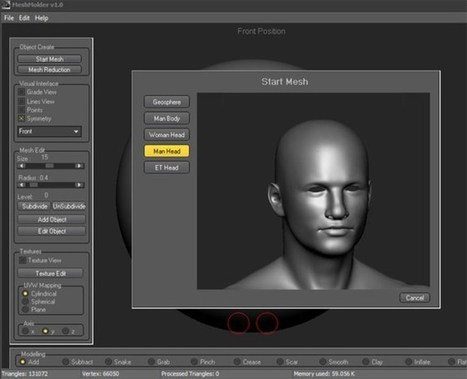 Digital sculpting software Meshmolder released the Beta 3.0 today - 3D Printing Industry | 3D printen | Scoop.it