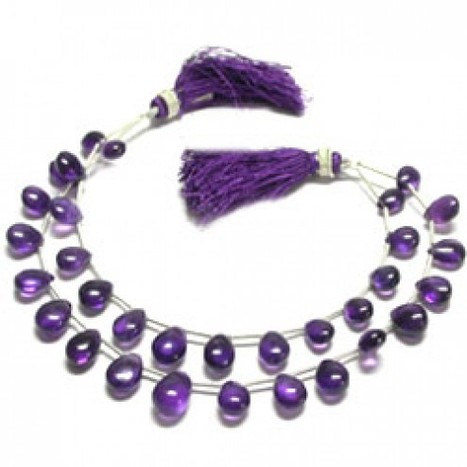 Natural Africa Amethyst Smooth Pear Beads in 8 to 12mm | Semi-Precious Beads | Scoop.it