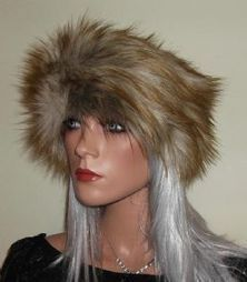 Ginger Wolf Fur Headband with Silvery Beige Highlights | Fur Fashion | Scoop.it