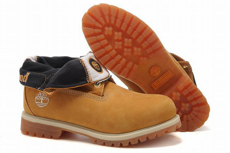Mens Roll Top Timberland Waterproof Boots Wheat Blue | new and share style | Scoop.it