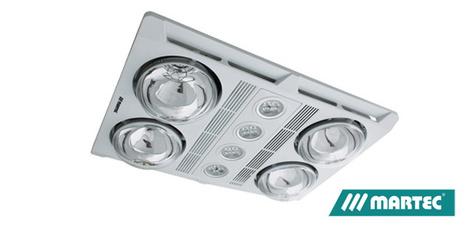 Martec 3 in 1 Bathroom Heater & exhaust Fan White 4 x LED Light 4 x Heat Lamp | Ceiling Fans Lights | Scoop.it