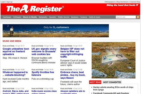 The Register | Top sites for journalists | Scoop.it