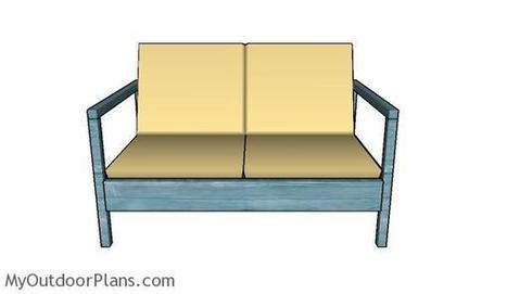 Outdoor Loveseat Plans | MyOutdoorPlans | Free Woodworking Plans and Projects, DIY Shed, Wooden Playhouse, Pergola, Bbq | Garden Plans | Scoop.it