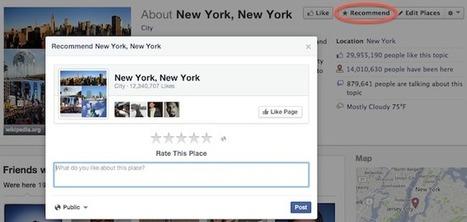 Facebook Adds Star Rating Recommendations To Desktop Pages - AllFacebook   Gouvernance web - Quelles stratégies web  ?   Scoop.it