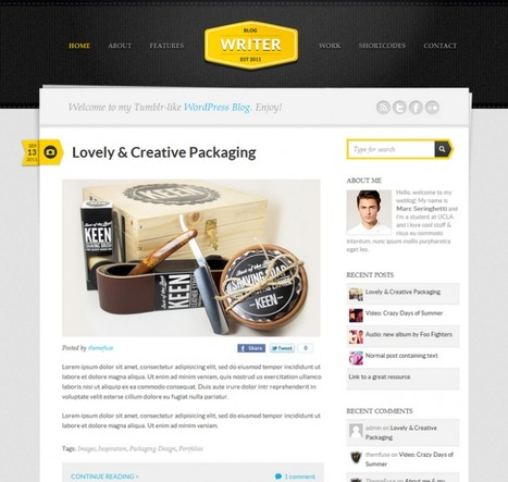 Writer Blogging Wordpress Theme   Best Themes   Wordpress Resources   Scoop.it