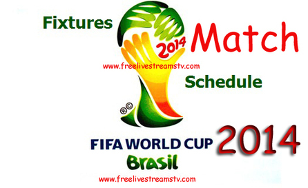Fifa World Cup 2014 Group By Group Match Fixture | Free Live Streams TV | Scoop.it