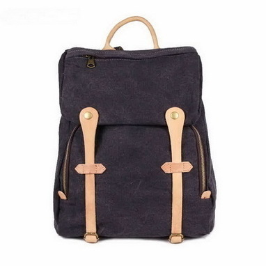 Dark Gray canvas school backpack for women | unisex daypack - $82.90 : Notlie handbags, Original design messenger bags and backpack etc | personalized canvas messenger bags and backpack | Scoop.it