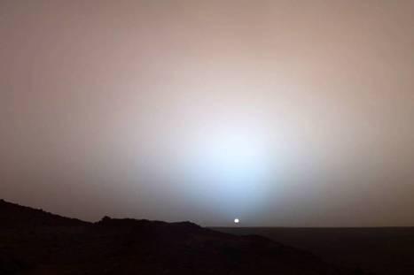 Maintenant vous l'avez vu, le soleil couchant sur Mars ! | Le soleil | Scoop.it