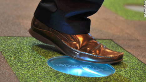 Green sidewalk makes electricity -- one footstep at a time - CNN.com | Sustainable Technologies | Scoop.it