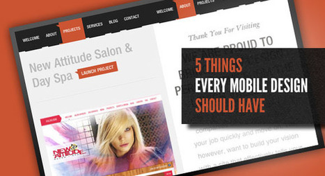 5 Things Every Mobile Design Should Have | M-learning, E-Learning, and Technical Communications | Scoop.it