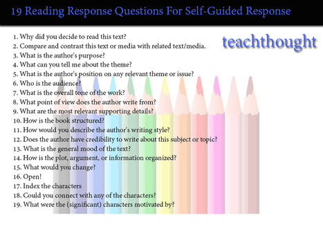19 Reading Response Questions For Self-Guided Response - | Digital ancient history | Scoop.it