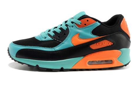 Nike Air Max 90 inspired Colorways Green & Orange & Black Mens New Brand | share list | Scoop.it