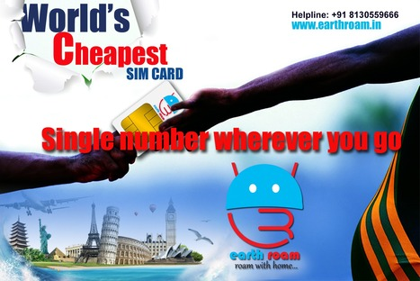 Global SIM card by Earth Roam   Empower your phone with Earth roam Global Travel SIM Card.   Scoop.it
