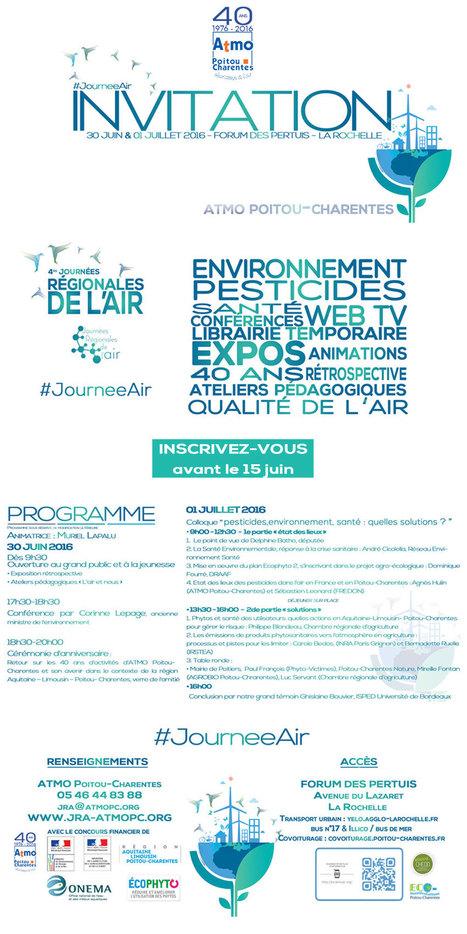 » Journées régionales de l'air 2016 : «pesticides, environnement, santé : quelles solutions ?» | Espace Mendes France, Poitiers | Scoop.it