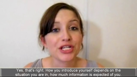 Introducing Yourself - How to Introduce Yourself In English | Introducing yourself in English | Scoop.it
