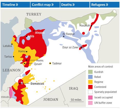 Syria conflict: three years on – interactive | Geografie Onderbouw | Scoop.it