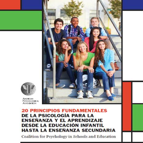 Los 20 principios de la Psicología más importantes para la educació | Posibilidades pedagógicas. Redes sociales y comunidad | Scoop.it