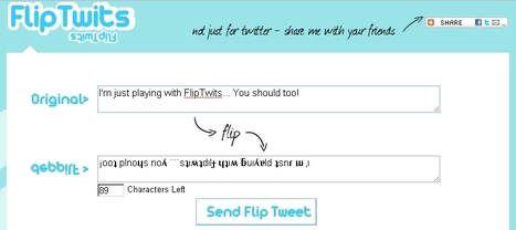 FlipTwits : A Website That Flips Text for Twitter | Twitter Toolbox | Scoop.it
