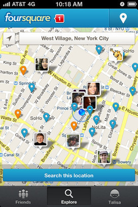 Foursquare a changé de look ! | Toulouse networks | Scoop.it