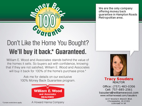 We are the only company offering money back guarantee in the Hampton Roads Metropolitan area. | Real Estate | Scoop.it