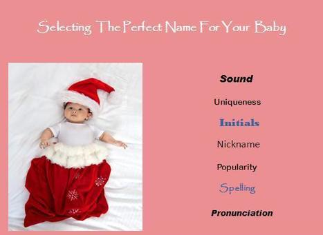 Selecting the Perfect Name for your Baby | Babynology Baby Names | Scoop.it