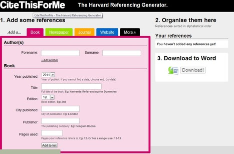CiteThisForMe - The Harvard Referencing Generator | Plagiarism and Academic Integrity | Scoop.it