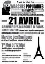 Arrivée des marches populaires à Paris (avril 2012) | Facebook | #marchedesbanlieues -> #occupynnocents | Scoop.it