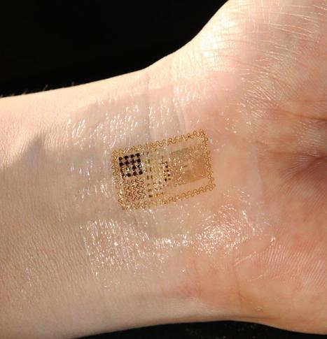 New 'electronic skin' patch monitors health wirelessly | up-to-date! | Scoop.it