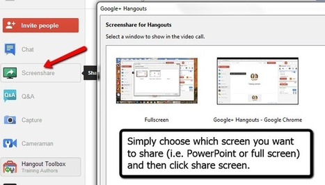 How to Host a Live Webinar for FREE Using Google+ Hangouts - Training Authors for Success | Tablet opetuksessa | Scoop.it