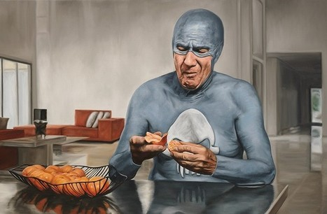 The Life and Times of an Aging Superhero Captured in Oil Paintings | Teaching Visual Art | Scoop.it