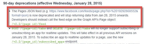 End of Facebook RSS feeds? The platform changelog that announced it!   RSS Circus : veille stratégique, intelligence économique, curation, publication, Web 2.0   Scoop.it