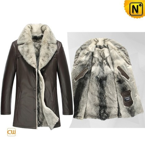 CWMALLS® Wolf Fur Leather Jacket CW855209 | Leather Trench Coat | Scoop.it