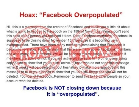 WARNING: Facebook Is Not Shutting Down Nov. 15; 'Inactive' Members Are Not Being Deleted | MarketingHits | Scoop.it