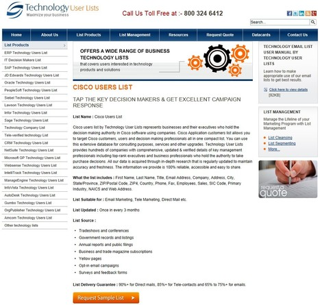 Highly Targeted Cisco Customer List | Technology Email List | Scoop.it
