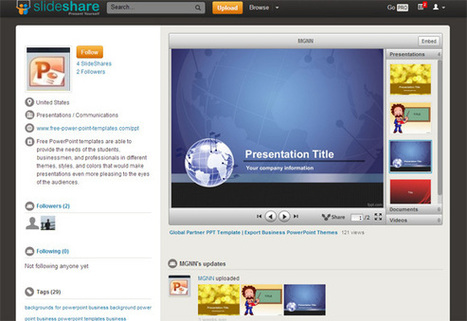 Free Presentation Templates for SlideShare   PowerPoint Presentation   me   Scoop.it