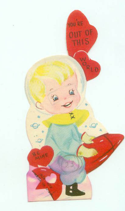 Vintage Space Age Rocket Spaceship Childrens Die Cut Valentine 1950s | Antiques & Vintage Collectibles | Scoop.it