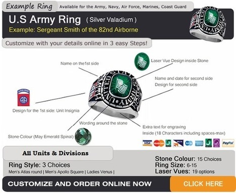 US Army Rings >Army Ring - FREE Shipping | Custom Military Rings | Scoop.it