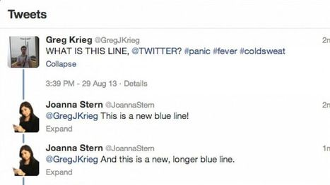 Twitter's New Blue Line | B-Gina™ TechNews Report  - up and about | Scoop.it