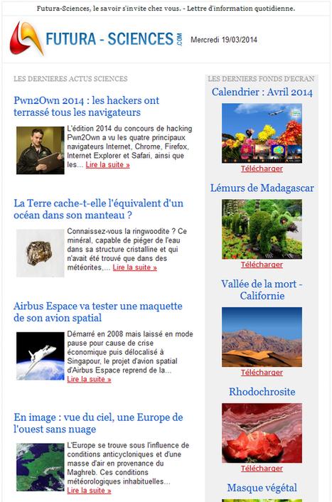 Lettre d'information : toute l'actu scientifique en abonnement gratuit - Futura Sciences | Nouvelles des TICE | Scoop.it