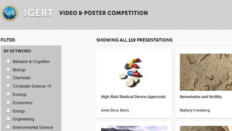 NSF IGERT 2013 Video & Poster Competition | For a better World | Scoop.it