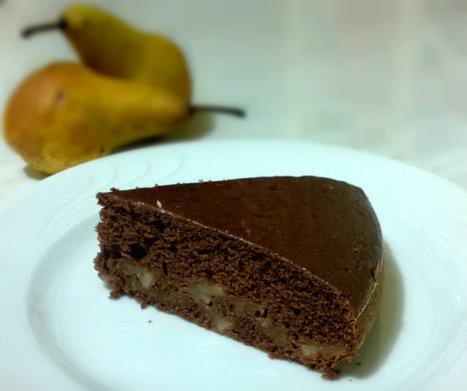 Torta vegan pere, cacao e cannella con farina di farro   Alimentazione Naturale, EcoRicette Veg e Vegan   Scoop.it