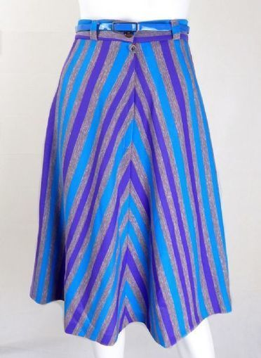Vintage 1970s Stripe Skirt | Vintage Skirts | Vintage 1970s Skirt | Vintage Clothing | Scoop.it